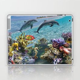 Coral Reef and Dolphins Laptop & iPad Skin