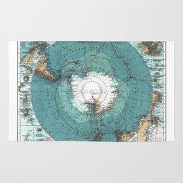 Antarctica Vintage map Rug