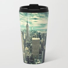 new york city panoramic view skyline Travel Mug