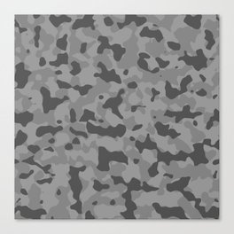 Camouflage Gray Canvas Print