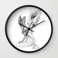 lannister Wall Clocks featuring Taniwha by Ariel Ni-Wei Huang