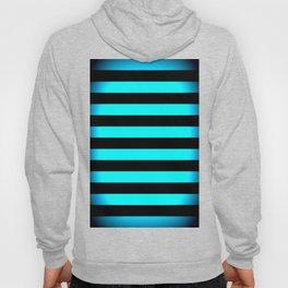 Stripes Aqua Blue & Black Hoody