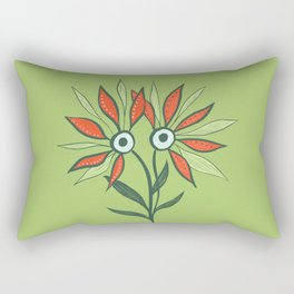 Cute Eyes Flower Monster Rectangular Pillow