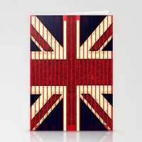 british flag Stationery Cards featuring BRITISH FLAG by shannon's art space