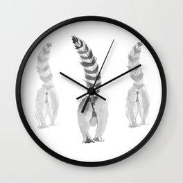 Lemur Butts Wall Clock