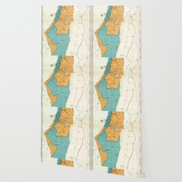 Map of Palestine Plan of Partition with Economic Union Wallpaper
