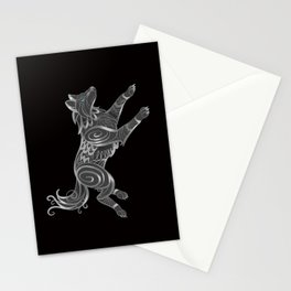 Shimmering Silver Ghost Wolf Stationery Cards