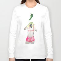 chile Long Sleeve T-shirts featuring Oración al chile by Violeta Rivera