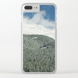 Where the Mountains End Clear iPhone Case