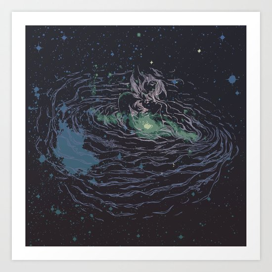 Universe of Love Art Print