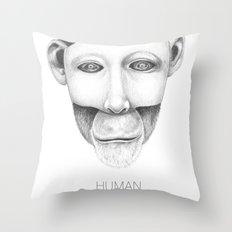 human after all... Throw Pillow