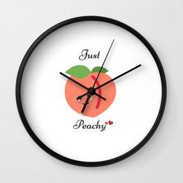 Just Peachy, Peach Art Wall Clock