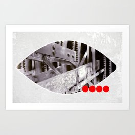 gears inside Art Print
