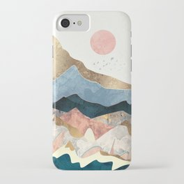 Golden Peaks iPhone Case