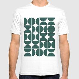 Mid Century Modern Geometric 04 Dark Green T-shirt