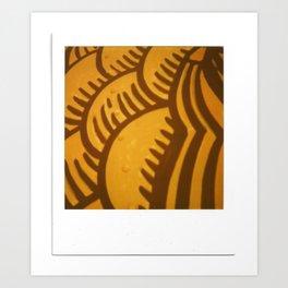 Yellow Orange Print Art Print