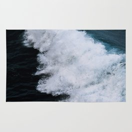 Powerful breaking wave in the Atlantic Ocean - Landscape Photography Rug