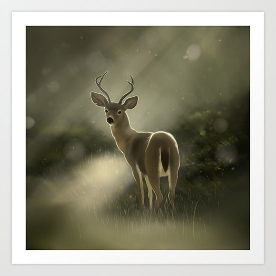 Dear deer.. Art Print