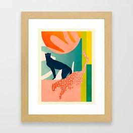 tropical cats Framed Art Print