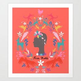 Frida Cameo in Tamale Art Print