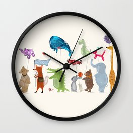 balloon parade Wall Clock