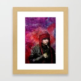 Red Hat With Snack Framed Art Print