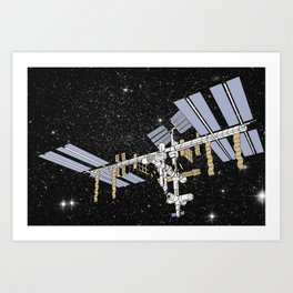 ISS- International Space Station Art Print