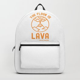 The Floor Is Lava - Funny Pompeii Ancient History Joke Backpack