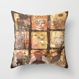 playing your cards Throw Pillow
