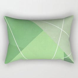 Gemetric Colors Green Rectangular Pillow