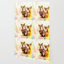 Familie Katze Wallpaper