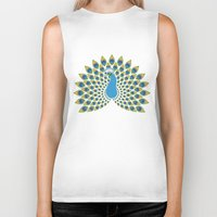 peacock Biker Tanks featuring Peacock by tuditees