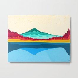 Mount Hood and Trillium Lake Metal Print