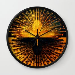 Peacock - Mad Men inspired Wall Clock