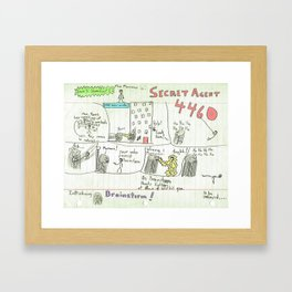 Max Morrocco: Issue 3 Framed Art Print