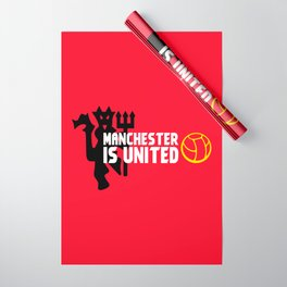 Manchester Is United Wrapping Paper