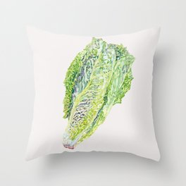 Spring Cabbage - Neutral Throw Pillow