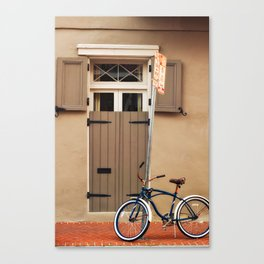 Bicycle In The French Quarter Canvas Print