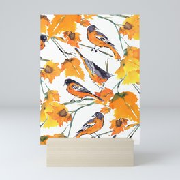 Birds in Autumn Mini Art Print