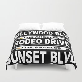 Los Angeles California Duvet Cover