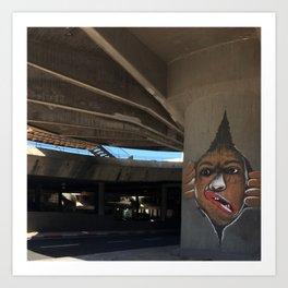 Tel Aviv Photography - Kikar Atarim Graffiti Art Print