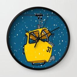 Ski lift gondola Wall Clock