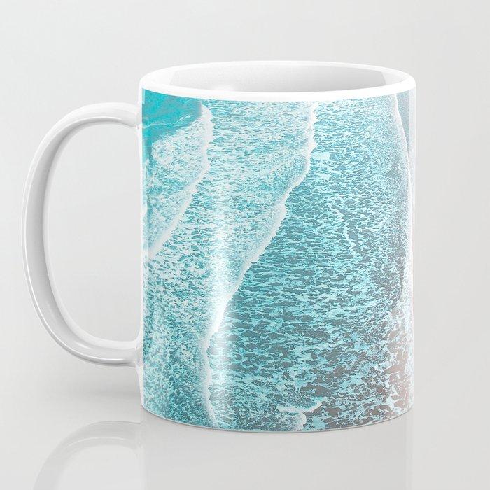 Sea Blue + Rose Gold Coffee Mug