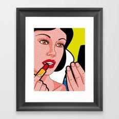 The secret life of heroes - Snow Lips Framed Art Print