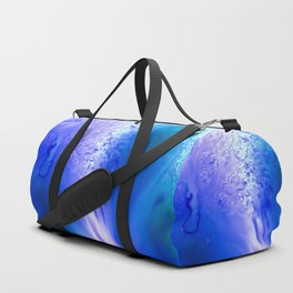 Blue Splash Abstract Duffle Bag