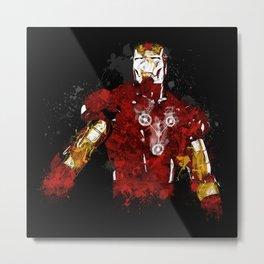 Iron Flux Metal Print