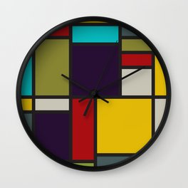 THIS IS NOT A MONDRIAN Wall Clock