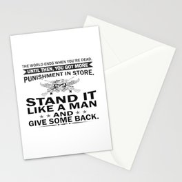 Stand It Like A Man Stationery Cards