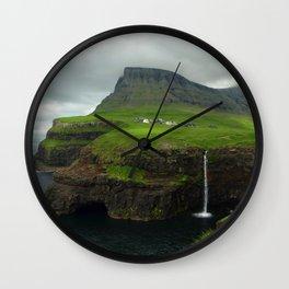 Gásadalur I Wall Clock