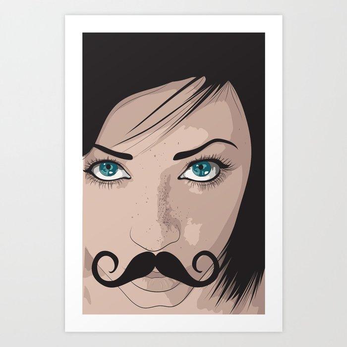 Stache Art Print